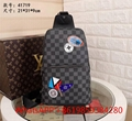 Mens LV Avenue Sling Bag Damier Graphite Canvas bag LV Crossbady bag leather bag