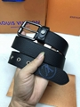 Louis Vuitton LV Initials Damier Graphite Belt Monogram belts Damier Azur Buckle