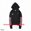 Off-White Colored Diagonal-Arrows Hooded