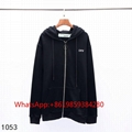 Off-White Colored Diagonal-Arrows Hooded fleece Zip-Front Hoodie men women cheap