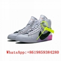 New OW OFF-WHITE X NIKE BLAZER MID The queen sneaker men woman high tops shoes