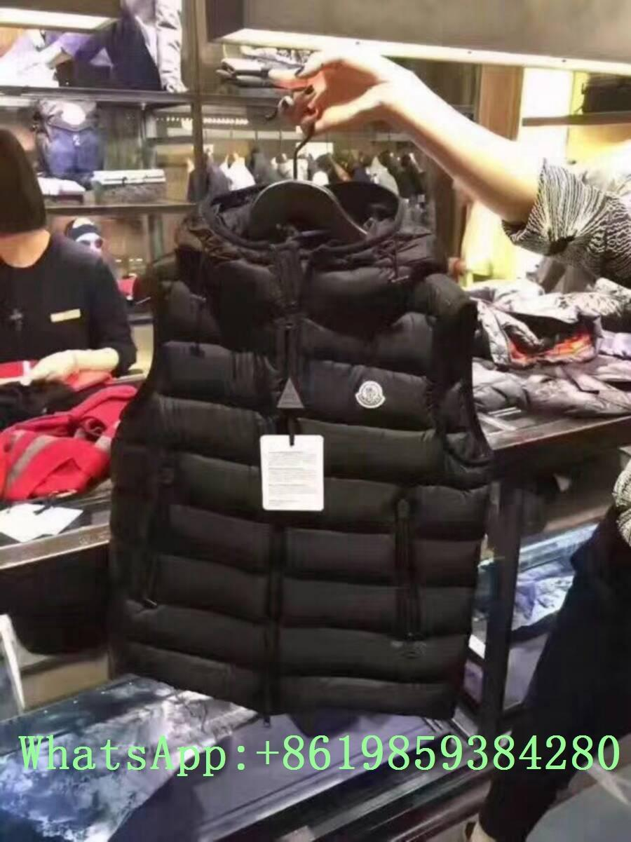 Moncle-r down Vest moncl-er Ghany Water Resistant Shiny Nylon Down Puffer Vest 3