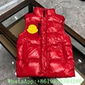 Moncle-r down Vest moncl-er Ghany Water Resistant Shiny Nylon Down Puffer Vest