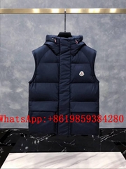 Moncle-r down Vest moncl-er Ghany Water Resistant Shiny Nylon Down Puffer Vest (Hot Product - 1*)