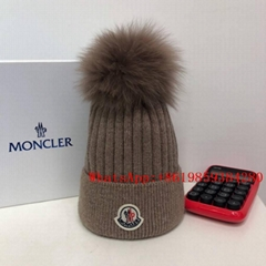 Moncler caps scarf Moncler Knitted for women Ribbed Beanie wool winter Cap gifts