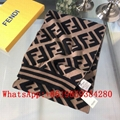 Fendi silk scarf Fendi wool Scarve Fendi shawl Fendi  gift box neckerchief