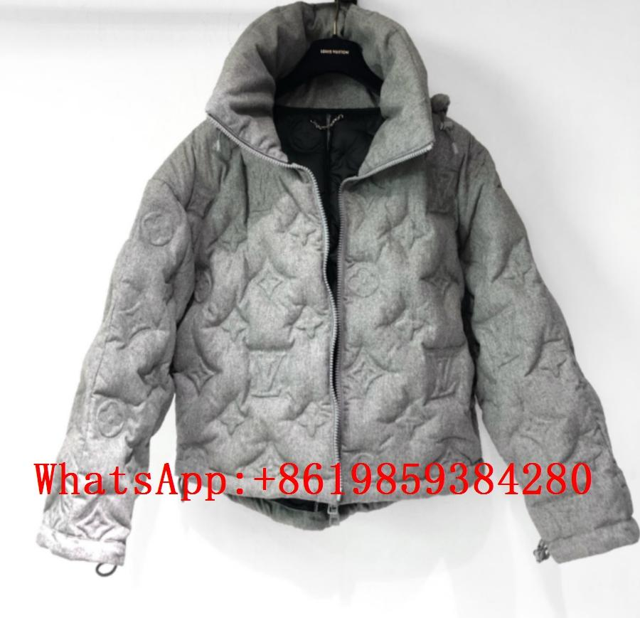 LV Coats Louis Vuitton Monogram Flower down jaclet LV embossed for men 1A5Q8D