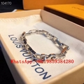 LV Bracelet Engraved Monogram Chain Links Patches Necklace Engraved Monogram gif