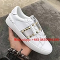Valentino Garavani Rockstud Untitled leather sneaker Metallic-Band Leather Strip