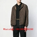 Fendi All- over FF windbreaker Fendi Blouson Jacket Men Fendi Brown nylon jacket