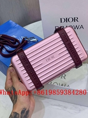 Dior x RIMOWA Personal Clutch On Strap Aluminium Pink DIOR shoulder bag mini