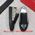 Brooklyn Salvatore Ferragamo leather sneakers Print Canvas Low Top shoes