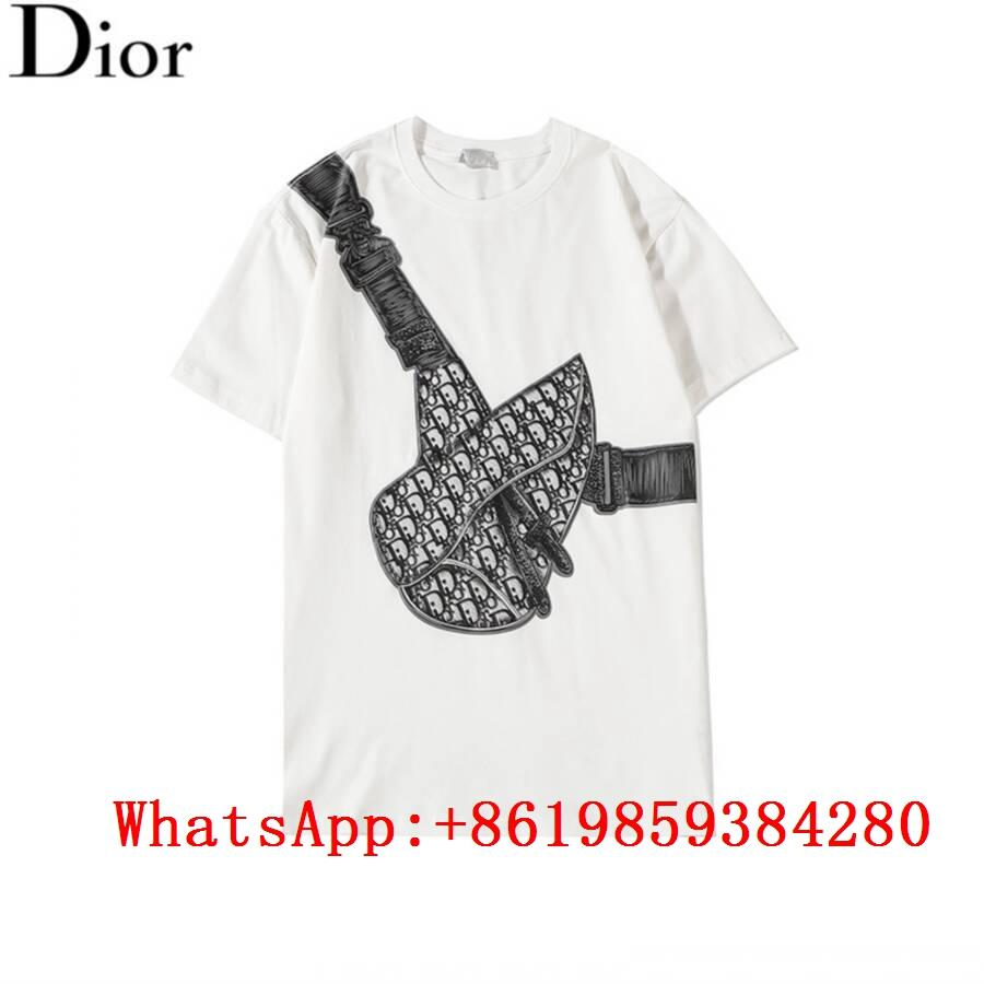 wholesale Dior White Saddle Bag Printed Compact Cotton T-shirt 2020