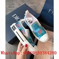 New Christian Dior B23 SLIP-ON SNEAKER Blue Canvas with DIOR AND SHAWN Signature