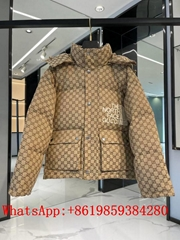 New       x The North Face Monogram Puffer Jacket       brown Coat hot sale (Hot Product - 1*)