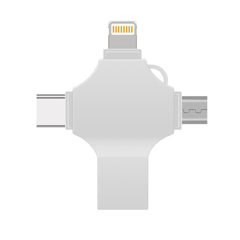廠家金屬u盤四合一多功能type-c安卓促銷禮品8G/16G/32G 1