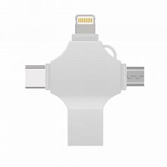 厂家金属u盘四合一多功能type-c安卓促销礼品8G/16G/32G