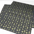 custom printed gold logo Moisture Proof wrapping gift black tissue paper 1