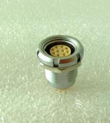 廠家批發B系列OCG推拉自鎖連接器插座 防水航空頭圓形插座