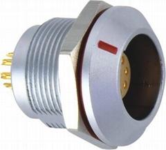 K系列OGG插座 多芯插座圆形推拉自锁连接器 工业电气器械插座