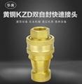 黄铜KZD1-4真空高温高压内螺纹双自封快速接头 2