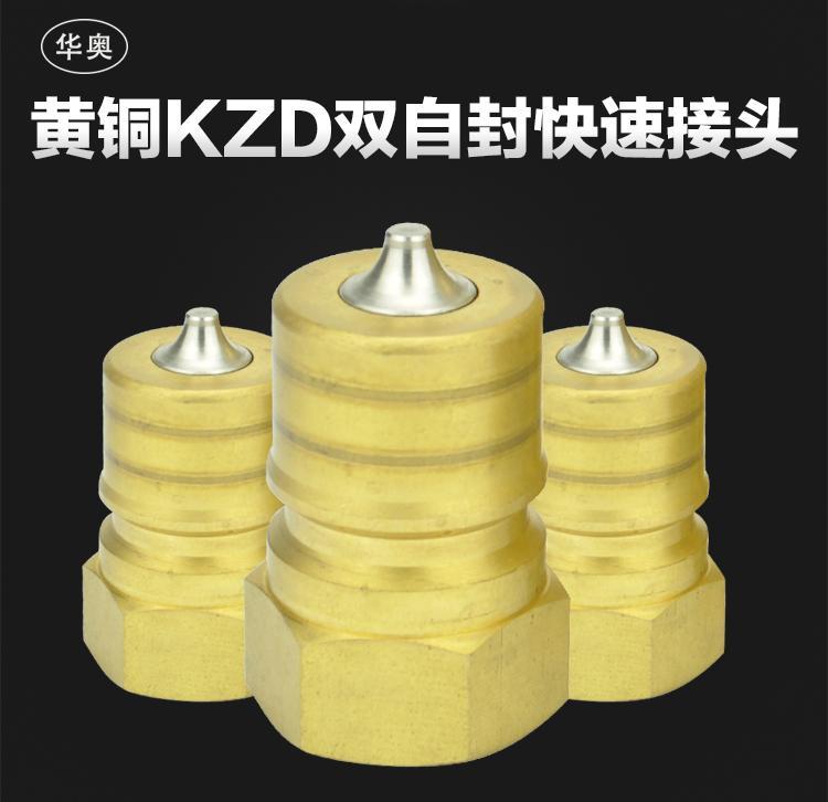 黃銅KZD1-4真空高溫高壓內螺紋雙自封快速接頭 4