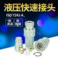 ISO7241-A碳鋼開閉式高壓油管液壓快速接頭 3