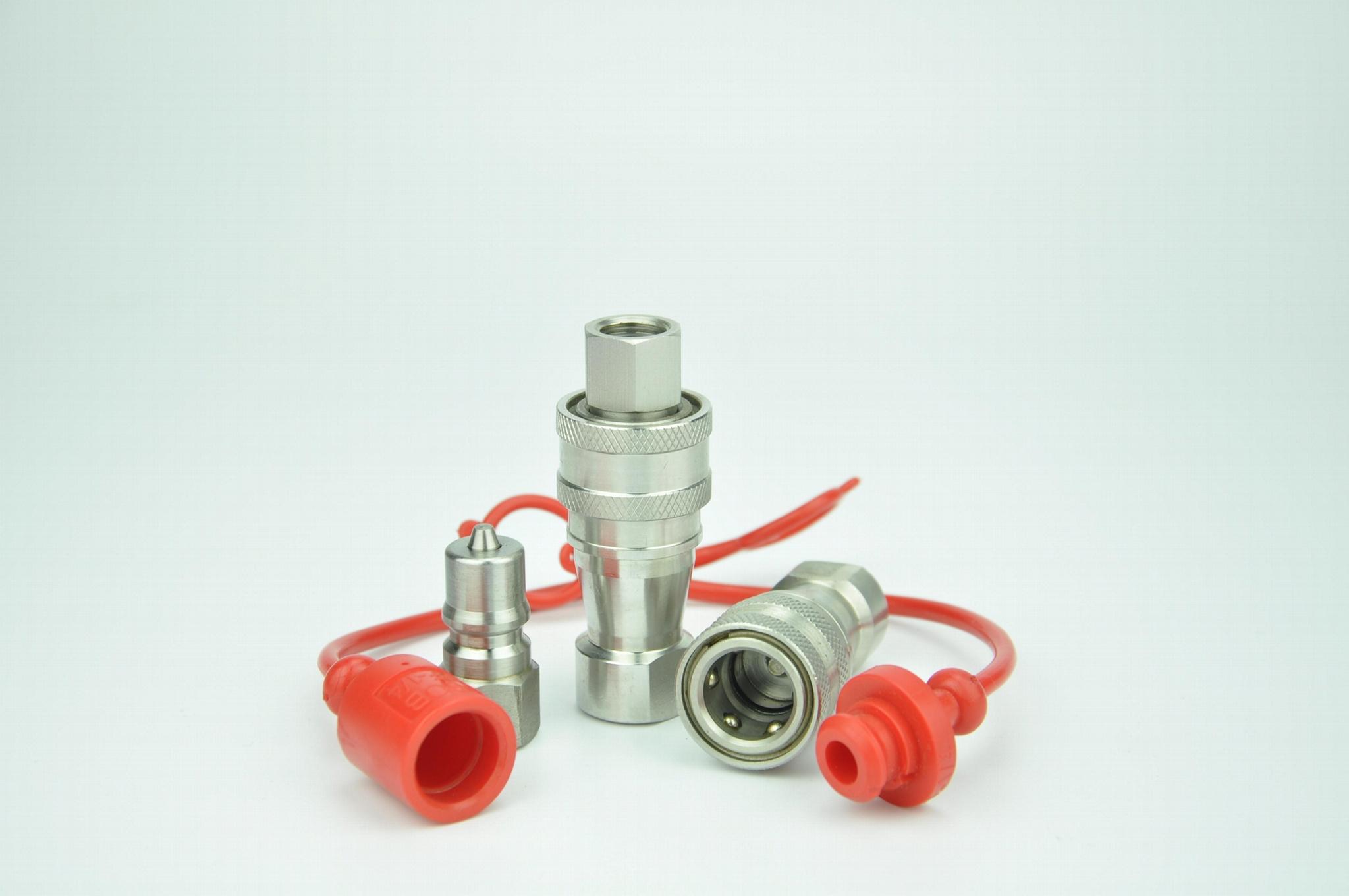 KZF不锈钢开闭式高压油管耐高温腐蚀快速接头 3