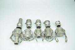 不鏽鋼扳把式快速接頭外螺紋鋼管水泵配件