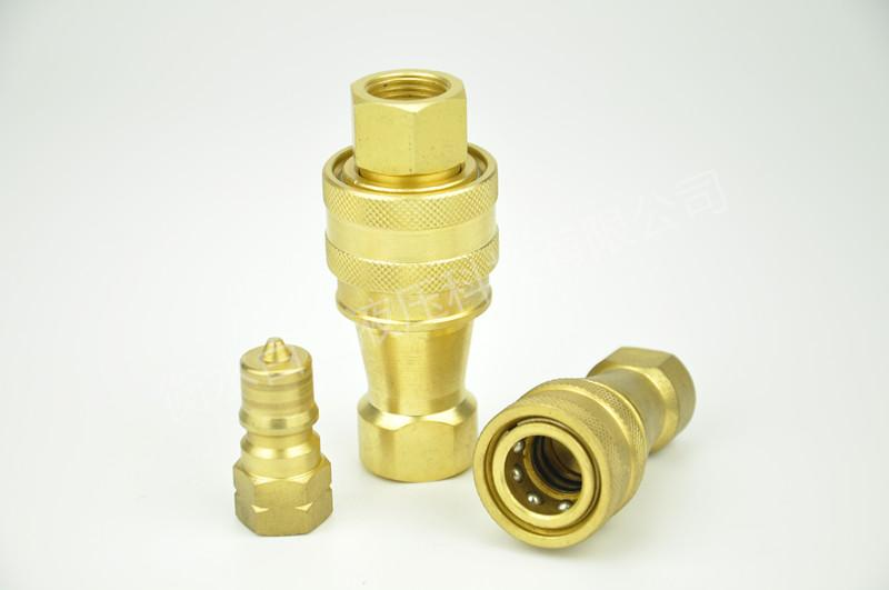 KZD黃銅開閉式高壓雙自封快速接頭 1