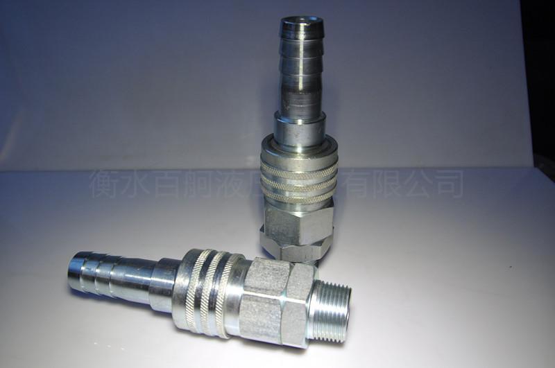 QKD-Z碳鋼單路開閉式單手半自動氣動快速接頭 2