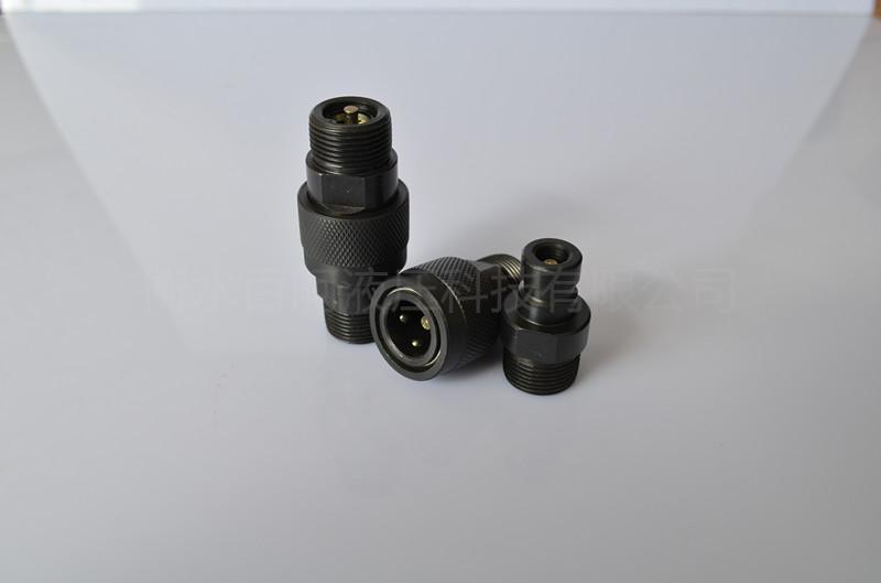 QZB275-77外螺纹高压油管开闭式快插快换接头 2