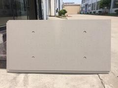 Polished concrete wall panel