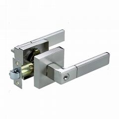 Wholesale factory Lever Tube Investment Solid Metal Door Lock Handle
