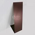 不鏽鋼噴砂鍍咖啡金裝飾板