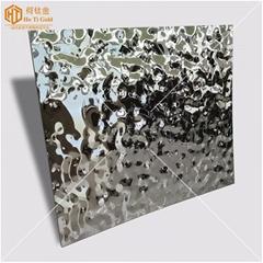 天花板装饰镜面小水波纹不锈钢板