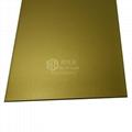 電鍍黃鈦金色不鏽鋼噴砂板材 5