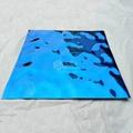 幕牆裝飾水波紋寶石藍鏡面不鏽鋼