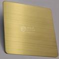 不鏽鋼拉絲黃鈦金色幕牆裝飾板
