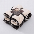 Cotton or Flannel or Coral Fleece & Sherpa blanket 1