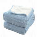 Cotton or Flannel or Coral Fleece & Sherpa blanket 3