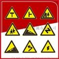 廠家直銷  粵盾交通三角形警示