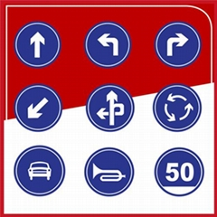 厂家直销 粤盾交通圆形标识牌可定制警示牌