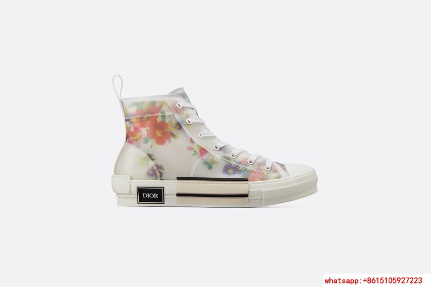 """FLOWERS TECHNICAL CANVAS """"B23"""" HIGH-TOP SNEAKER Dior shoes dior lace shoes"""
