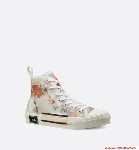"FLOWERS TECHNICAL CANVAS ""B23"" HIGH-TOP SNEAKER      shoes      lace shoes 4"