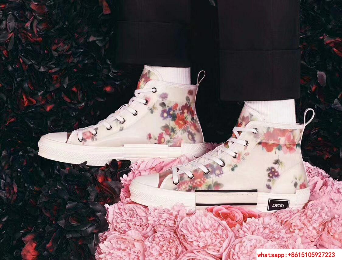 "FLOWERS TECHNICAL CANVAS ""B23"" HIGH-TOP SNEAKER      shoes      lace shoes 8"