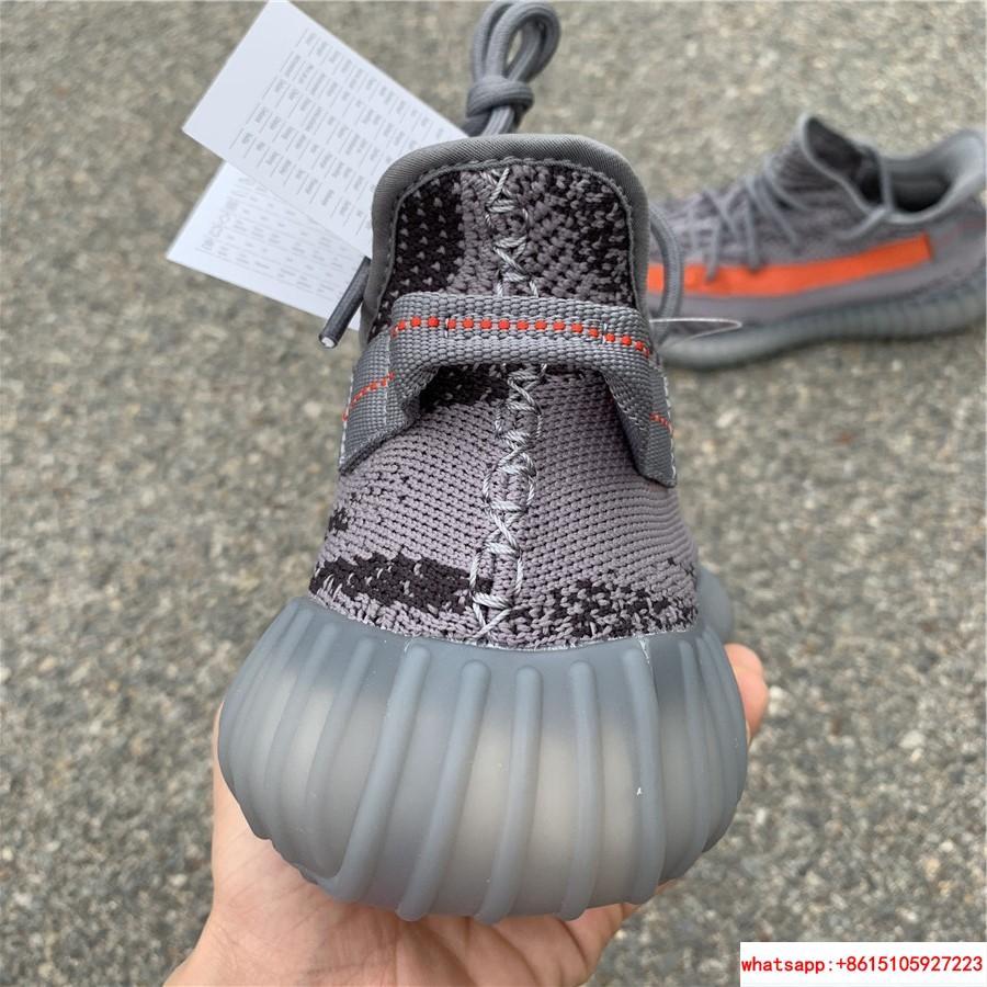 Yeezy Boost 350 V2 grey and orange triple EG7963 adias yeezy shoes  3