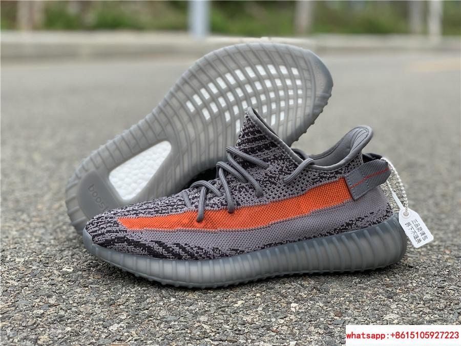 Yeezy Boost 350 V2 grey and orange triple EG7963 adias yeezy shoes  1