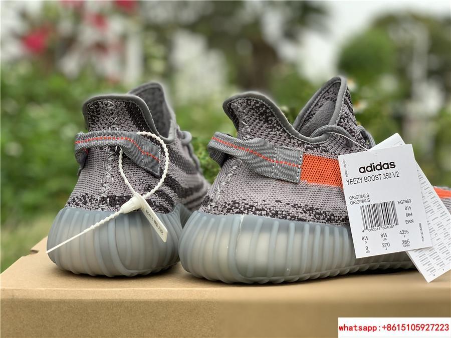 Yeezy Boost 350 V2 grey and orange triple EG7963 adias yeezy shoes  9
