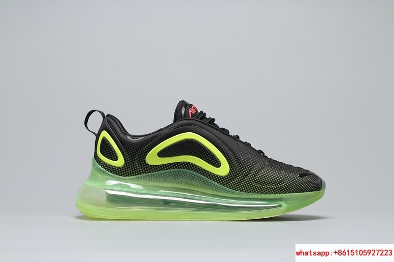 Men's Nike Air Max 720 Running Shoes Black/Bright Crimson/Volt AO2924 008 8